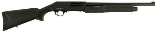 "Dickinson Defense Pump-Action 12 Ga, 18.5"" Barrel, 3"", Synthetic Black, 5rd"
