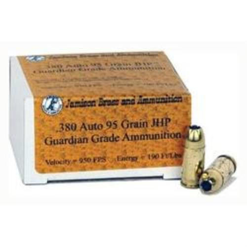 Jamison .380 ACP, 95 Gr, JHP, 20rd/Box