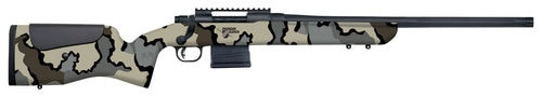 "Mossberg MVP LR  308 Win, 20"" Barrel, Benchrest Adjustable Comb, KUIU Camo Stock Blued, 10rd"