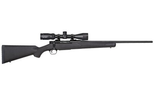 "Mossberg Patriot .22-250 Rem, 22"" Barrel, 3-9x40mm Vortex Crossfire II, Black Stock, Blued, 5rd"