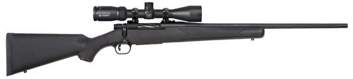 "Mossberg Patriot 25-06 Rem, 22"" Barrel, 3-9x40mm Vortex Crossfire II, Black Stock, Blued, 5rd"