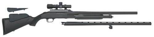 "Mossberg 500 Field/Deer Pump 12 Ga, 24""/28"" Barrel, 2.5x20mm Dead Ringer, Black, Blued, 5rd"
