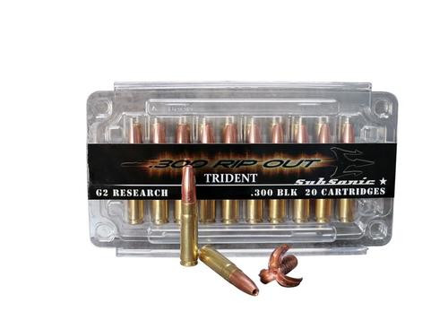 G2 Research Rip Out Trident .300 AAC Blackout Subsonic, 200 Gr, 20rd Box