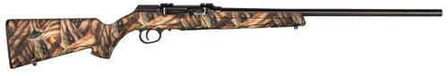 "Savage A17 .22 LR, 22"" Barrel, American Flag Stock, Black Carbon, 10rd"