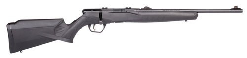 "Savage B22 Compact .22 LR, 18"" Barrel, Synthetic Black Stock, Black Carbon, 10rd"