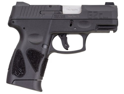 "Taurus G2c 9mm, 3.2"" Barrel, Night Sights, Black, Blued Stainless Steel Slide, 10rd"