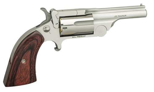 "NAA Ranger II .22 WMR, 1.63"" Barrel, Rosewood Boot Grip, Chrome, 5rd"