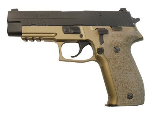 SIG P226 9MM, 4.40 Barrel/Black Slide/Dark Earth Frame 15 Rd Mags