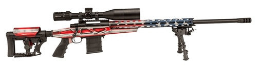 """Howa American Flag Chassis .223 Rem, 20"""" Barrel, Luth-AR BMA-4 Stock, American Flag Cerakote, 10rd"""