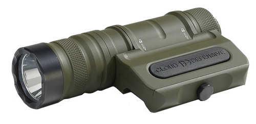 CLD Owl, Optimized Weapon Light, Olive DrabGreen Aluminum, 1250 Lumens, Ambidextrous, Fits Any Picatinny Rail, Quick-Disconnect Light Head And Tail-cap, Includes Battery And Charger