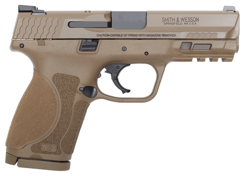 "Smith & Wesson M&P9C M2.0 9mm, 4"" Barrel, NTS Flat Dark Earth, 15rd"