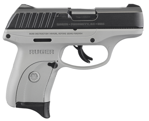 "Ruger EC9s Striker Fired, Compact, 9MM 3.1"" Barrel, Gray Nylon Frame, 7Rd Mag"