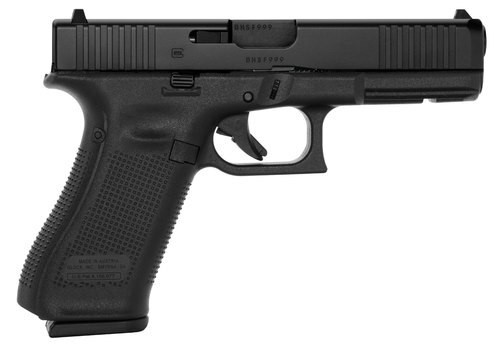 "Glock G17 Gen5 9mm, 4.49"" Barrel, Fixed Sights, 10rd"