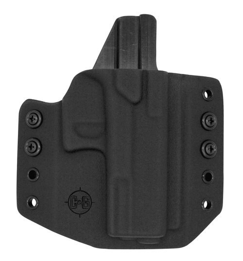 Crucial Concealment, Covert IWB, Inside Waistband Holster, Ambidextrous, Kydex, Black, Fits S&W Shield 9/40