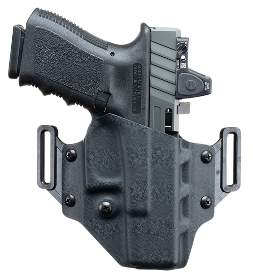 Crucial Concealment, Covert OWB, Outside Waistband Holster, Right Hand, Kydex, Black, Fits Glock 19