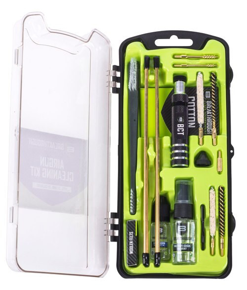 Breakthrough Vision Cleaning Kit, .17/.22 Caliber Airguns, Includes Cleaning Rod Sections, Hard Bristle Nylon Brushes, Jags, Patch Holders, Cotton Patches, Durable Aluminum Handle And Mini Bottles of Breakthrough Military-Gr