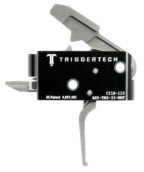 TriggerTech Competitive Primary with Bolt Release AR-Platform Two Stage Flat 3.50 lbs