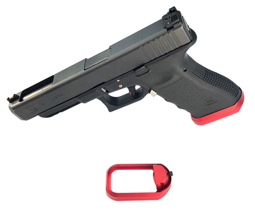 Cross Armory Flared Magwell Compatible with Glock Gen1-3 Aluminum Red Hardcoat Anodized