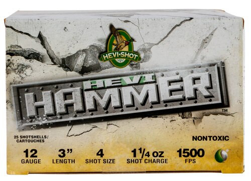 "HEVI-Shot Hevi Hammer 12 Ga, 3"", 4 Shot, 1 1/4oz, 25rd/Box"