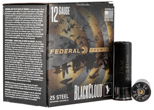 "Federal Blackcloud 12 Ga, 3"", 1 1/4oz, 25rd/Box"