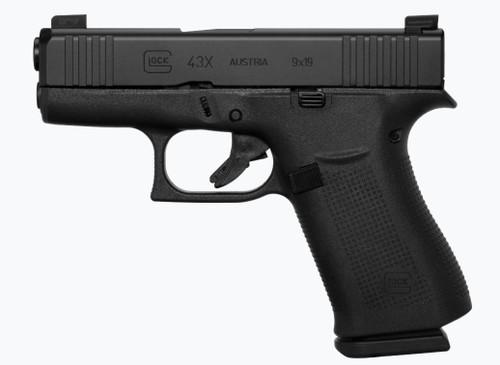"""Glock 43X 9mm, 3.41"""" Barrel, Glock Night Sights, Black, 2x 10rd"""