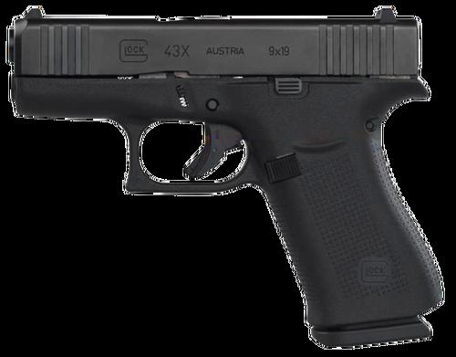 """Glock 43X 9mm, 3.41"""" Barrel, AmeriGlo Night Sights, 2x10rd Mags"""