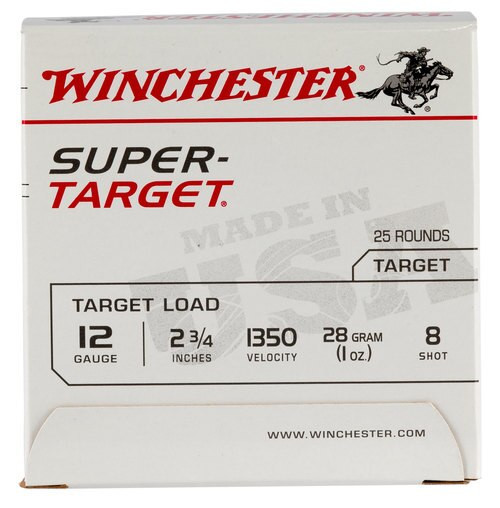 Winchester Super-Target 12 Ga, 8 Shot, 1oz, 25rd/Box, 13508