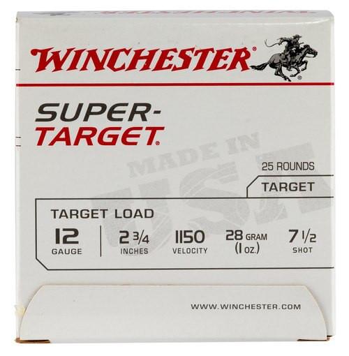 Winchester Super-Target 12 Ga, 7.5 Shot, 1oz, 25rd/Box, 11507