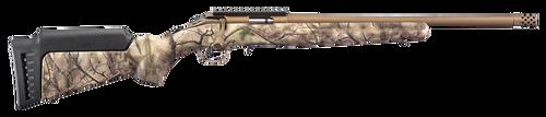 "Ruger American Rimfire Standard 22WMR, 18"" Threaded Barrel, Bronze, Camo, 9rd"