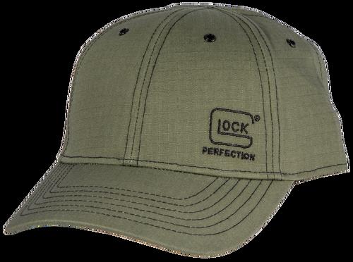 Glock 1986 Ripstop Hat Olive Cotton Velcro