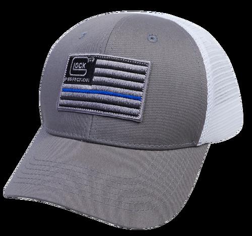 Glock Blue Line Flag Mesh Snapback Hat