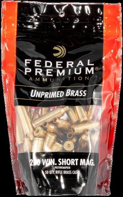 Federal Gold Medal Unprimed Brass 270 WSM, 50rd/Bag