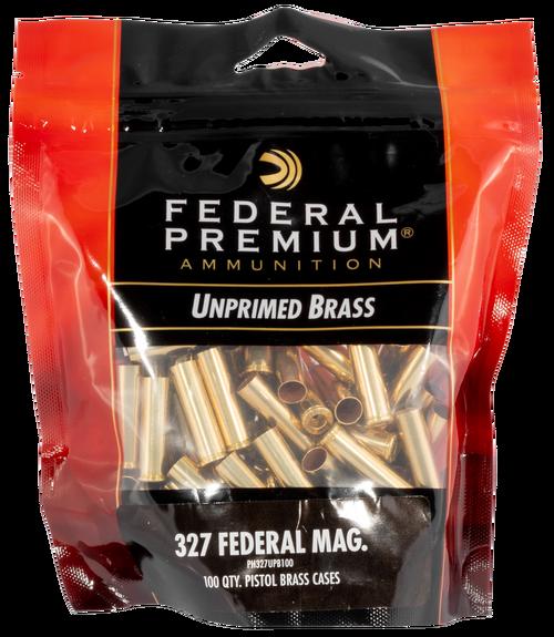 Federal Gold Medal Unprimed Brass 327 Fed Mag, 100rd/Bag