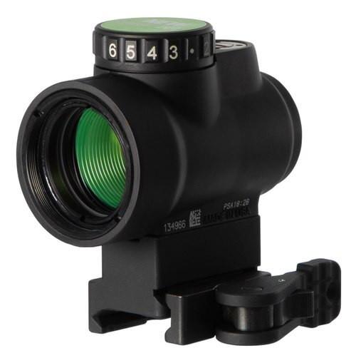 Trijicon MRO 1x 25mm Obj 2 MOA Green Dot Black CR2032 (1)