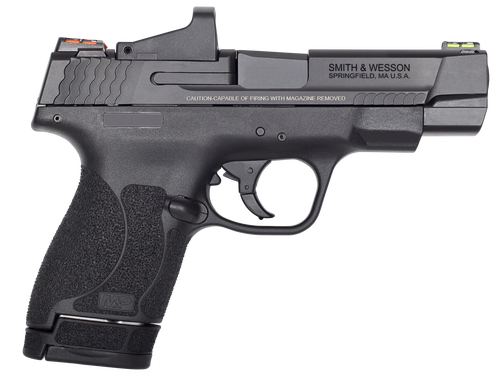 """Smith & Wesson M&P Shield M2.0 Performance Center, 4"""" Barrel, Red Dot, Black, Stainless Slide, 6rd 7rd"""