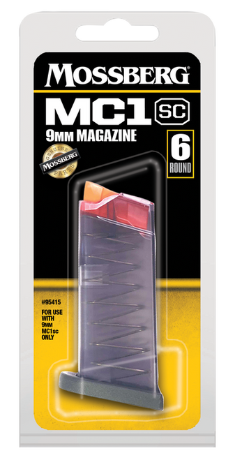 Mossberg Magazine, 9mm, 6Rd, Clear, Fits Mossberg MC1SC