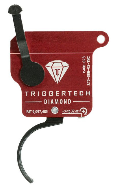 TriggerTech Diamond without Bolt Release Remington 700 Single-Stage Traditional Curved 0.30-2.00 lbs, Black
