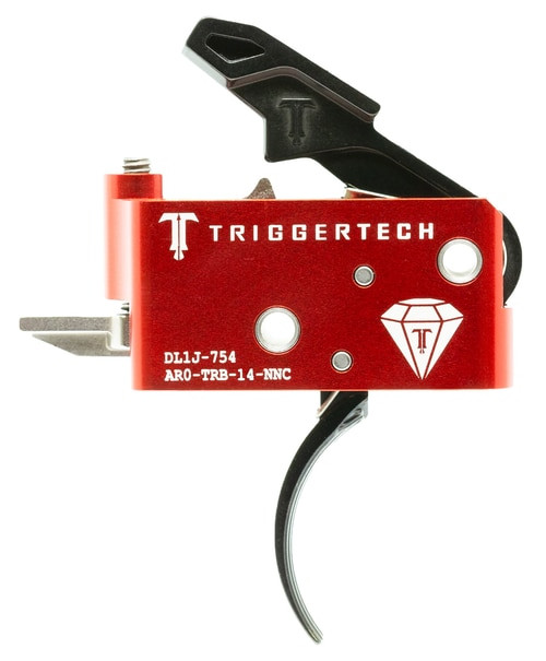 TriggerTech Diamond with Bolt Release AR-Platform Two Stage Traditional Curved 1.50-4.00 lbs, Black