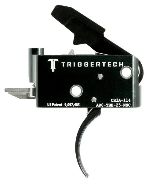 TriggerTech Adaptable Primary with Bolt Release AR-Platform Two Stage Traditional Curved 2.50-5.00 lbs, Black