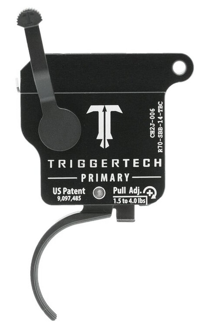 TriggerTech Primary with Bolt Release Remington 700 Single-Stage Traditional Curved 1.50-4.00 lbs, Black