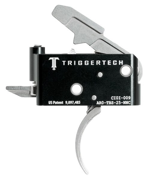 TriggerTech Adaptable Primary with Bolt Release AR-Platform Two Stage Traditional Curved 2.50-5.00 lbs