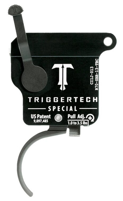 TriggerTech Special with Bolt Release Remington 700 Single-Stage Traditional Curved 1.00-3.50 lbs, Black
