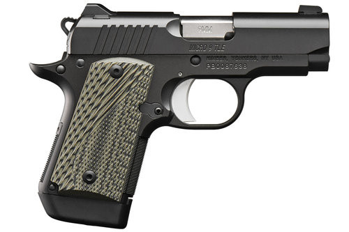 "Kimber Micro 9 TLE 9mm, 4.07"" Barrel, Thumb Safety, G-10 Grips, Matte Black, 7rd"