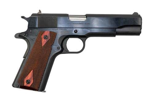 "Colt 1911 Government .38 Super, 5"" Barrell, Wood Grips, Blued, 9rd"