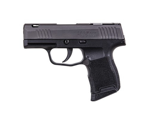 "Sig P365 SAS 9mm, 3.1"" Barrel, FT Bullseye Sights, Black, 10rd"