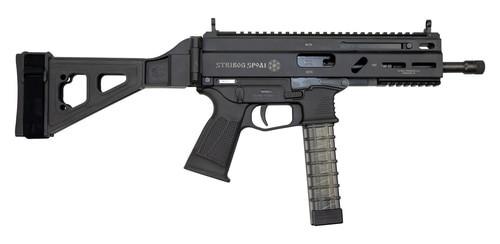 "Grand Power Stribog SP9A1 Gen2 9mm, 8"" Barrel, Folding SB Tactical Pistol Brace, Black, 3 x 30rd"