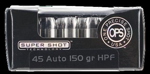 Ammo Inc OPS 45 ACP 150gr, Hollow Point, 20rd Box