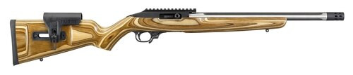"Ruger TALO Exclusive 10/22 Competition, .22 LR, 16"" SS Fluted Barrel, Brake, Brown Laminate Stock, 10rd Mag"