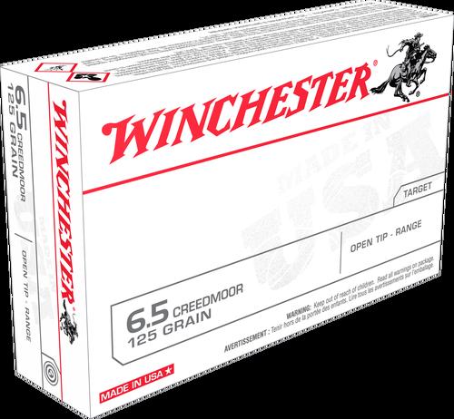 Winchester USA 6.5 Creedmoor 125gr FMJOT, 20rd Box
