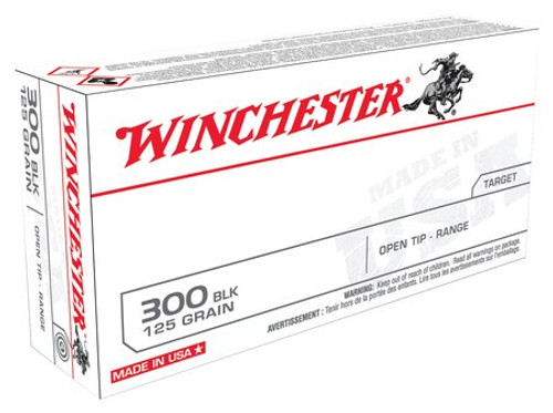 Winchester USA 300 Blackout 125 Open Tip, 20rd Box